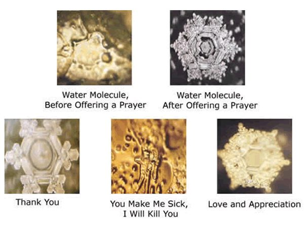 Masaru emoto message de l'eau